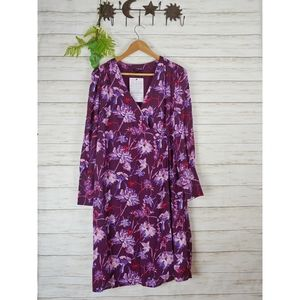 WHO WHAT WEAR Purple Floral Wrap Surplice Dress